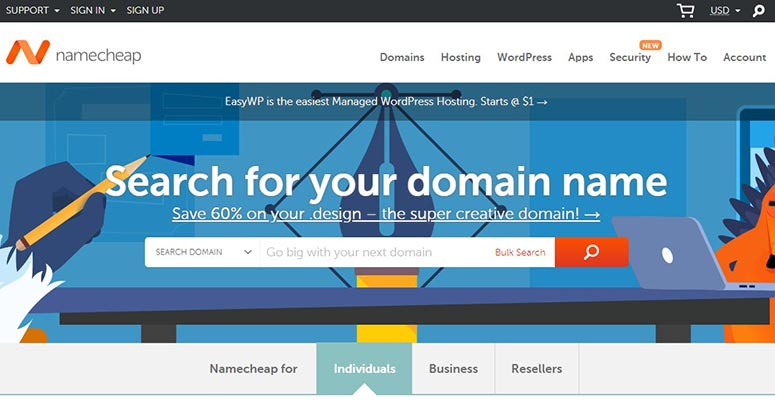 NameCheap, pialang domain