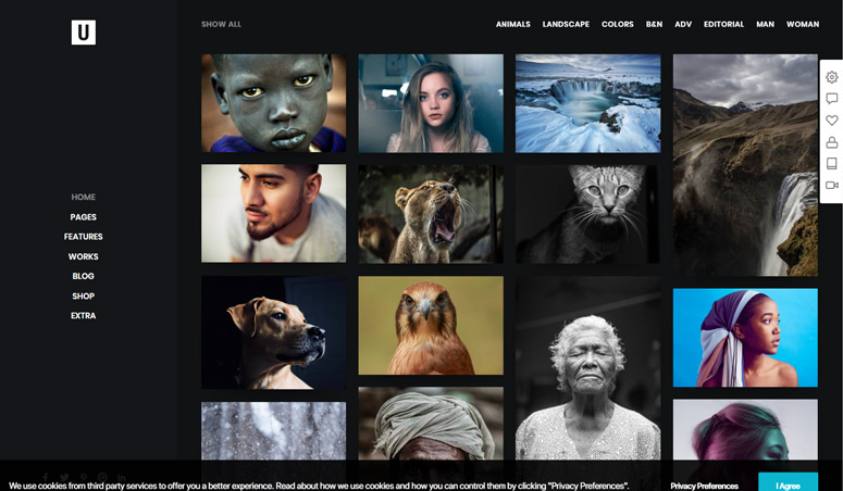 uncode-theme-photography-site