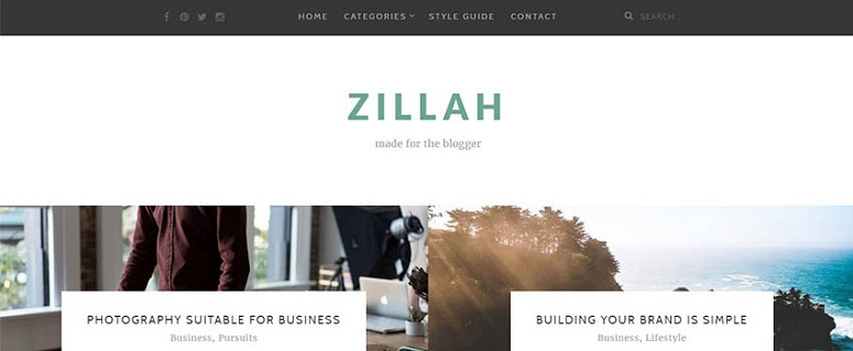 """Zillah wordpress"" tema"