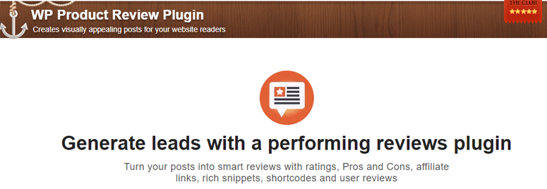 WP Product Review Plugin