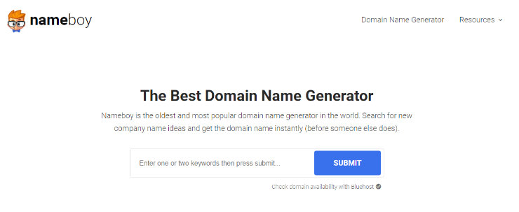 nameboy-best-blog-name-generátor