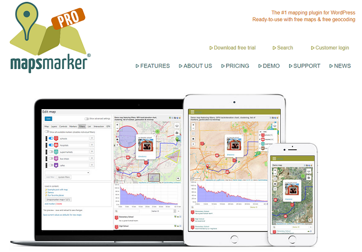 Maps Marker Pro, plugin google maps