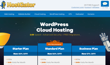 Pregled oblaka hostinga WordPress HostGator