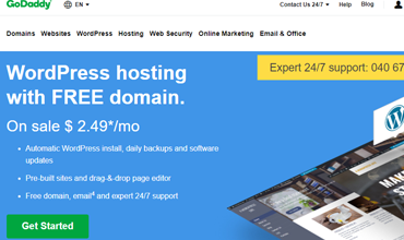 GoDaddy WordPress hosting pregled