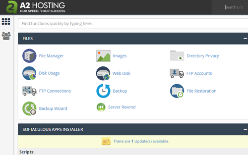 A2 Hosting cPanel