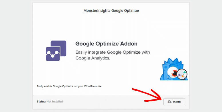 Google Optimize-add-on