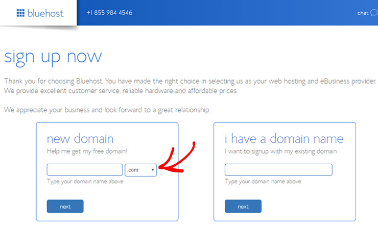 bluehost-select-a-domain