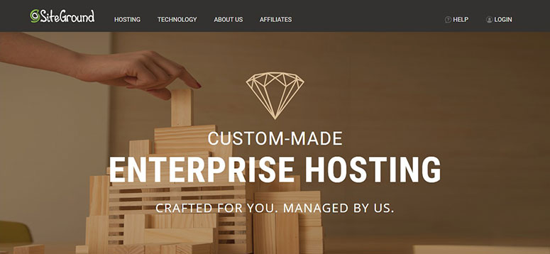 Enterprise Hosting에 대한 SiteGround 거래
