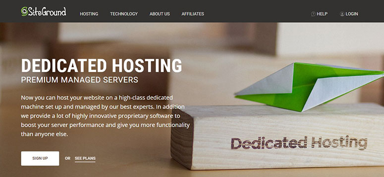 Kupon SiteGround untuk Dedicated Hosting