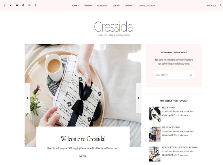 cressida-wordpress-θέμα