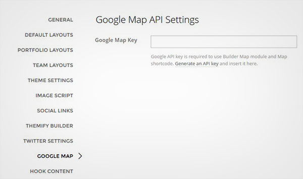 Google Map API設定