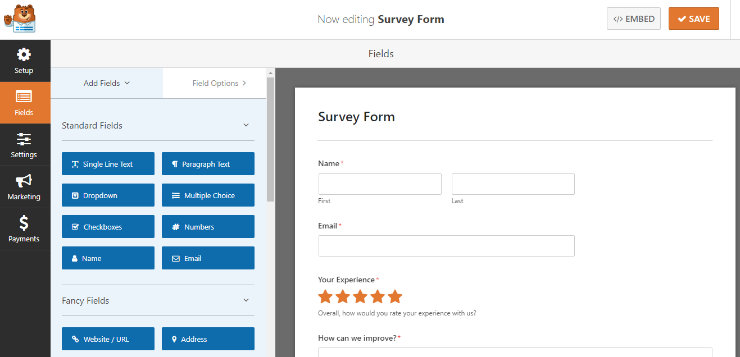 wpforms-survey-editor